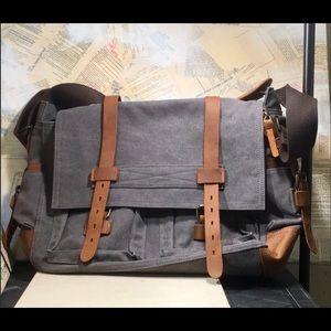Vintage Canvas Leather Military Bag